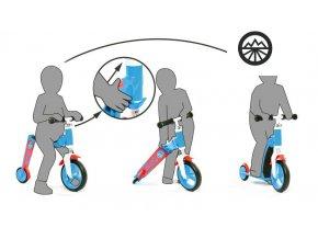 Scoot & Ride Highwaybaby modro-oranžová